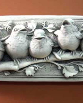 116W-Baby-Bird-Designer-White-Stone-Plaque